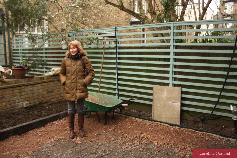 Caroline Garland, London garden designer!