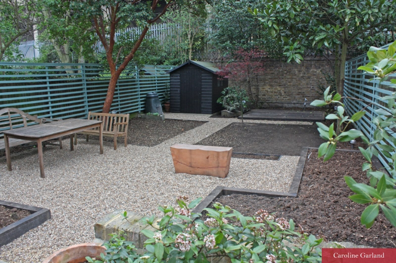 Raised vegetable beds AND a black shed