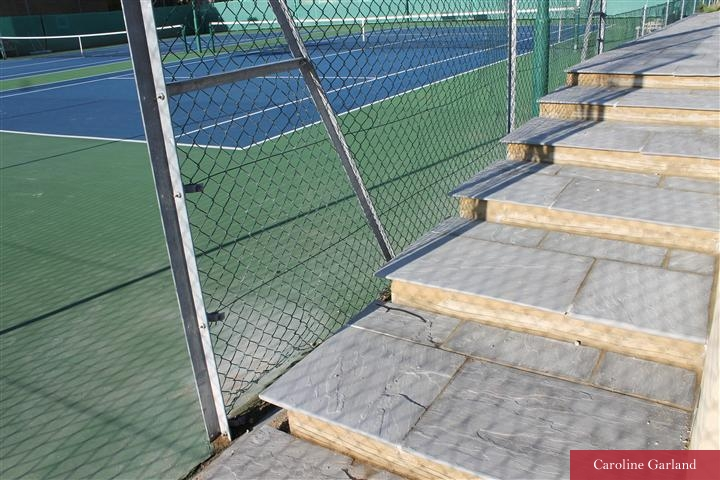 Magdalen tennis courts Wandsworth finished