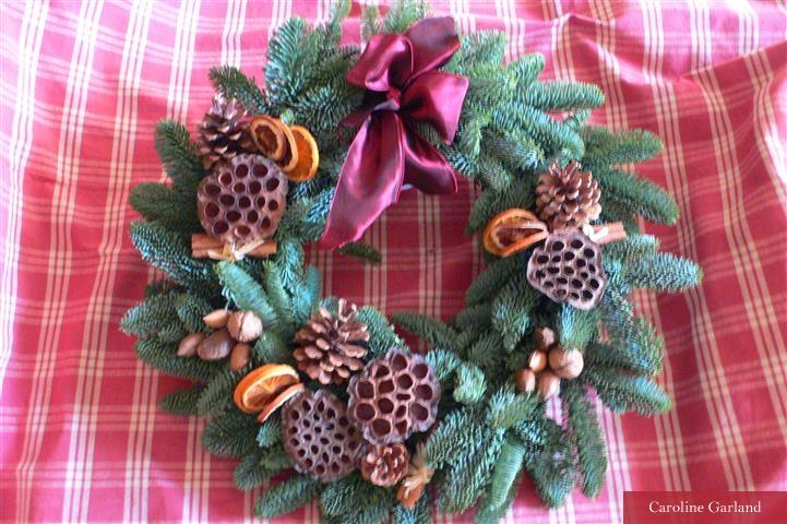 Christmas wreath by Caroline Garland