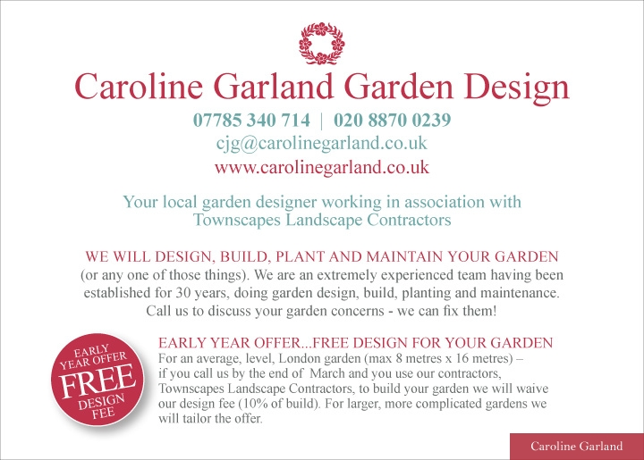Free Design For your Garden Flyer back
