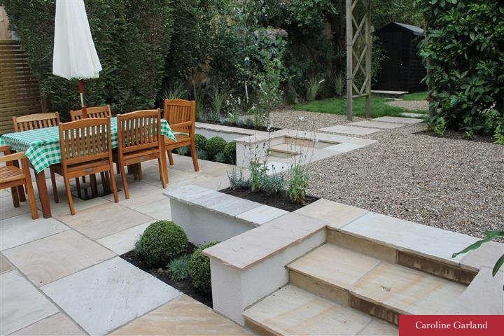 Well built steps in green Indian sandstone in Merton