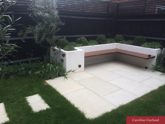 Small contemporary garden in  Wandsworth