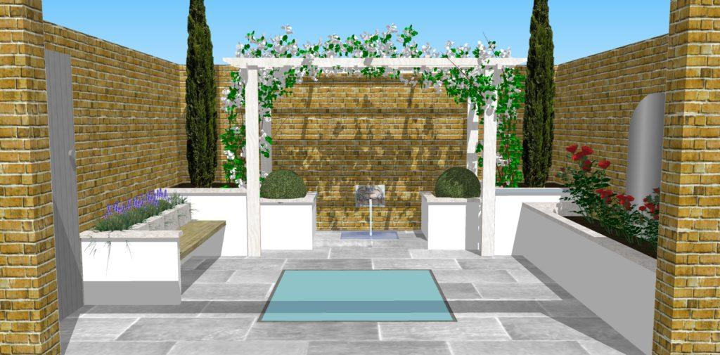 Garden Designers 'Caroline Garland Garden Design' design Chiswick garden