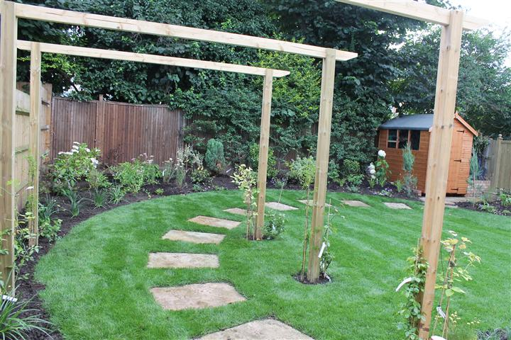 Path leading to shed